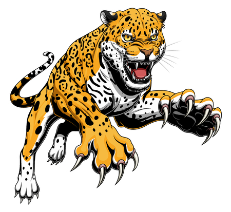 Jaguar bondissant