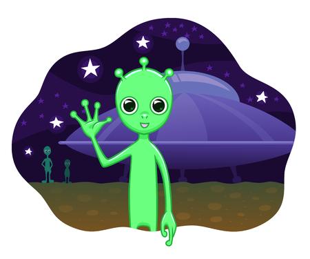 Aliens greets Vecteurs