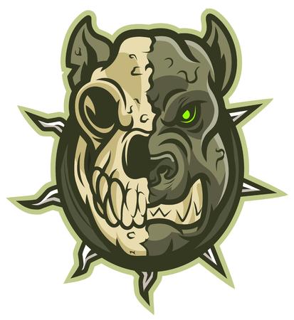 Zombie dog head