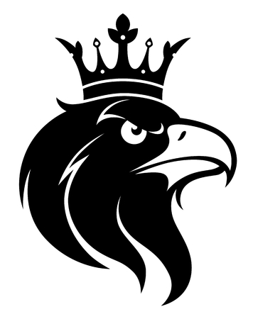 Eagle head with crown