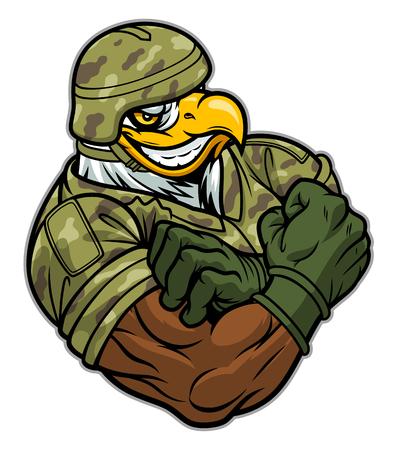 Military strong eagle Ilustração
