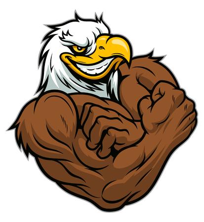 Águila fuerte Ilustración de vector