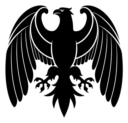 Heraldic eagle emblem Ilustração
