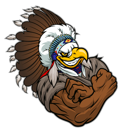 Strong eagle indian