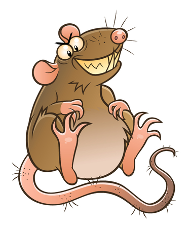 Fat ugly rat Ilustrace