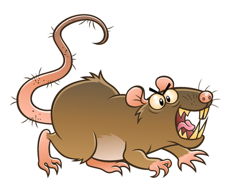 Ugly rat with open mouth