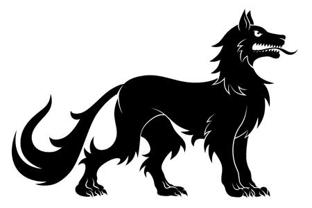 Heraldic statant wolf
