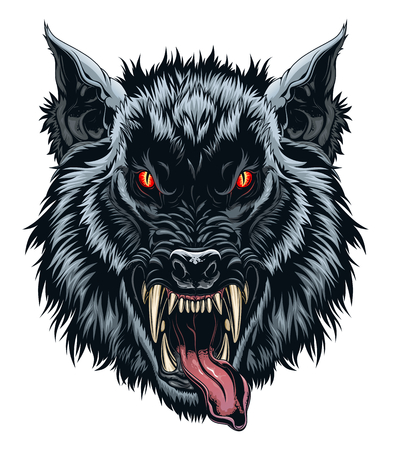 Werewolf head illustration