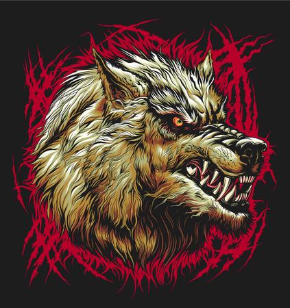 Tête de méchant loup