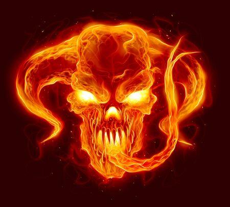 Fire demon illustration