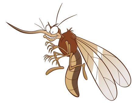 Cartoon evil mosquito Stock Illustratie