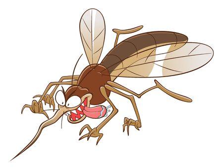 Cartoon mosquito attacks