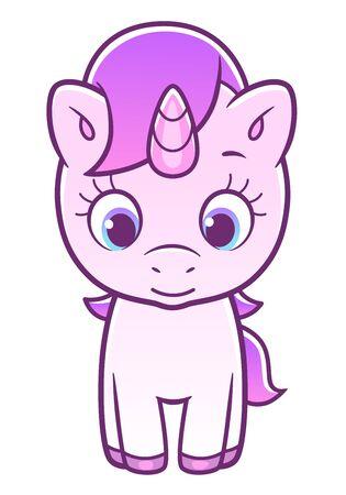 Cute unicorn front