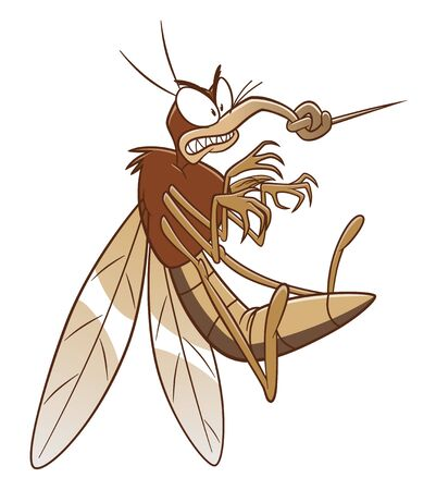 Mosquito with broken nose