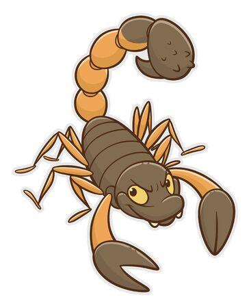 Escorpión divertido de dibujos animados