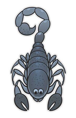 Cute cartoon scorpion