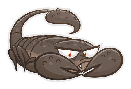 Cute angry scorpion Illusztráció