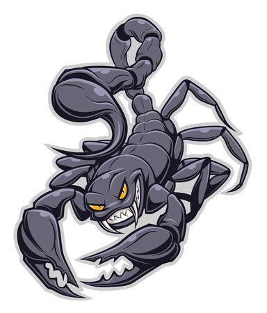 Ilustración de dibujos animados de escorpión Ilustración de vector