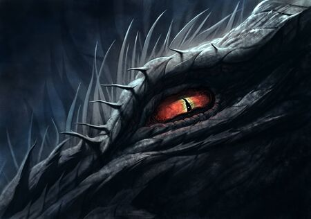 Eye of dragon illustration Zdjęcie Seryjne