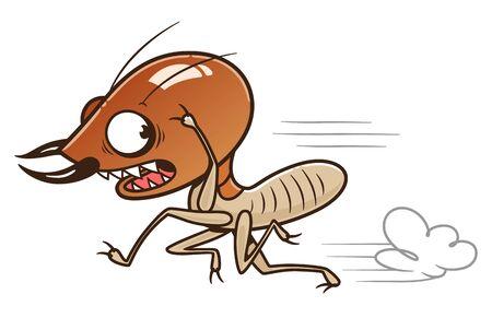 Scared running termite