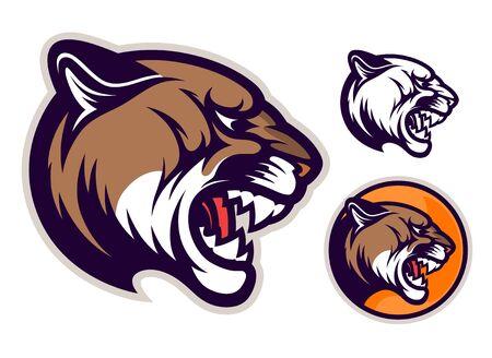 Cougar head emblem Stock fotó - 135502948