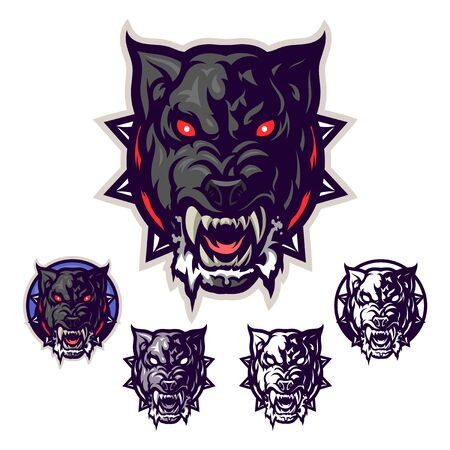 Mad dog head emblem