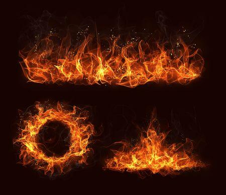 Flame design elements