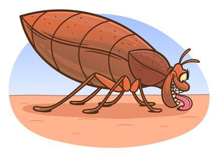Bedbug on the human skin
