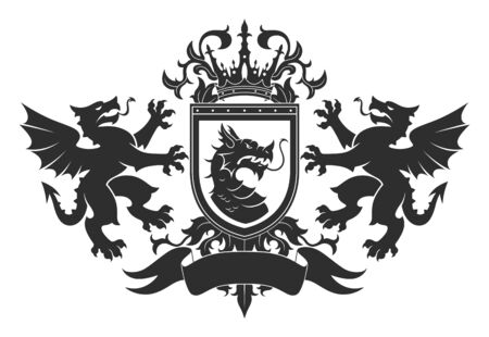 Coat of arms with dragons
