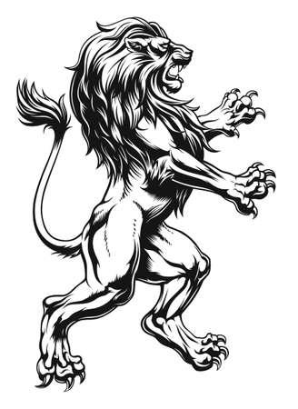 Heraldic lion realistic