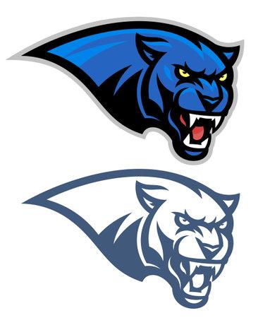 Panther head horizontal emblem