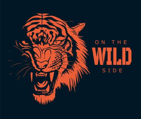 On the wild side tiger illustration
