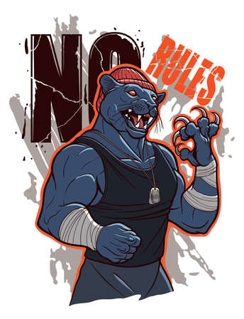 No rules illustration with bully panther