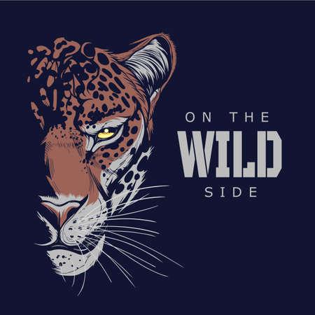 On the wild side jaguar illustration Illustration