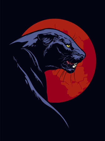 Panther with red circle