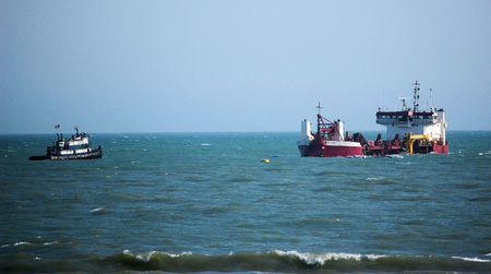 Big Boat and Little Boat Banco de Imagens