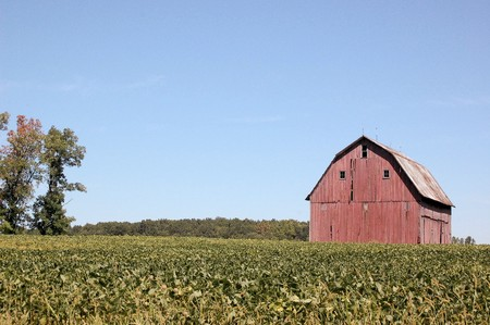 Red Barn on Right