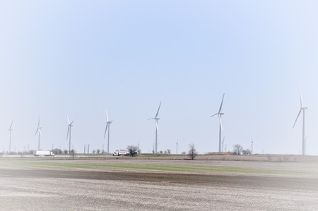 Line of Turbines Background photo