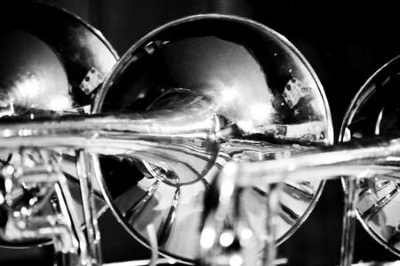 Blank and White Trombones