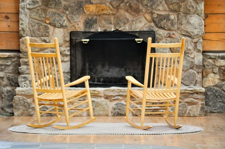 hearth: Chairs by the Hearth Stock Photo