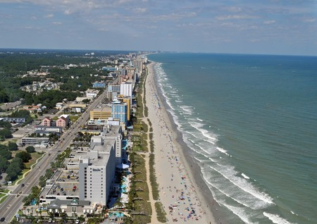 Myrtle Beach Coastline - Aerial View Stock Photo - 7687231