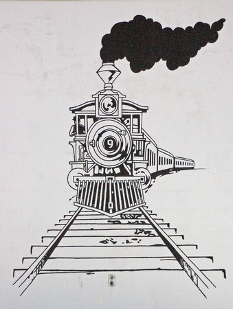 black train: Dibujo de tren