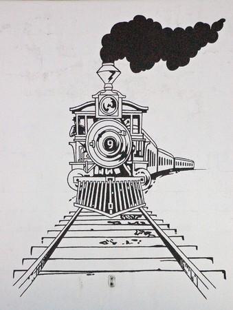 Train Drawing Standard-Bild