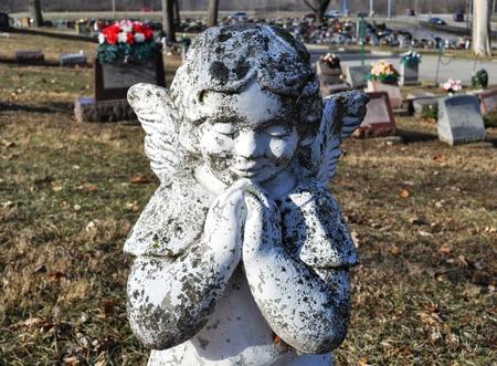 gravesite: Gravesite - Angel - praying