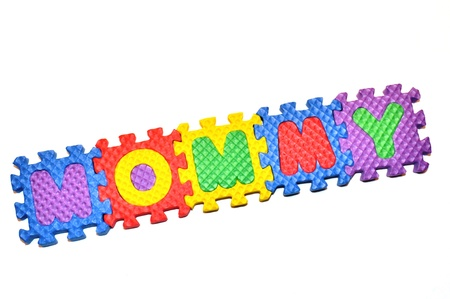 Mommy - letter blocks Stok Fotoğraf