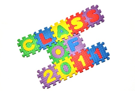 letter blocks: Class of 2011 - letter blocks 2 Stock Photo