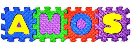 Connected Letters - AMOS in center
