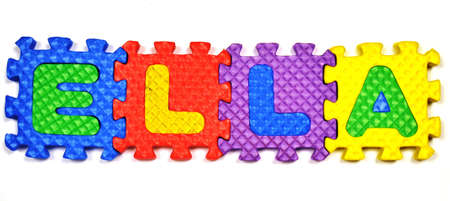 Connected Letters - ELLA in center