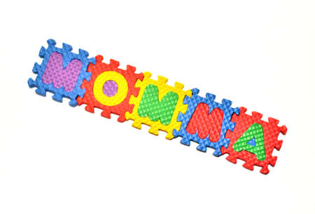 Connected Letters - Momma in center diagonal 2