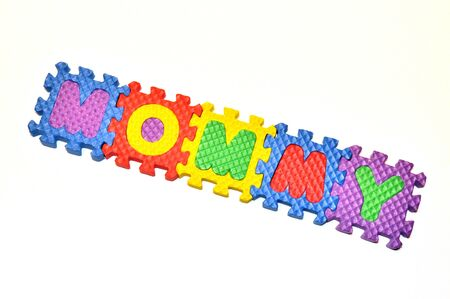 Connected Letters - Mommy in center diagonal